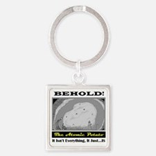 Funny Philosophical Square Keychain