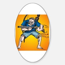 Funny Knee surgery Sticker (Oval)