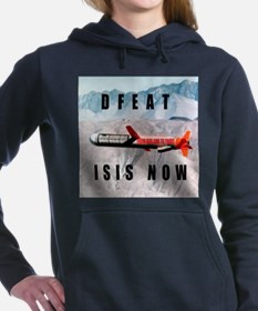 Defeat ISIS Now Women's Hooded Sweatshirt