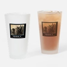 Merica - Abe lincoln on a Bear hold Drinking Glass