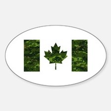 Canadian Flag with Green Camo Background Decal
