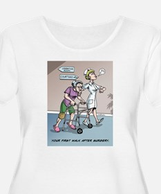 First Walk After Surgery Plus Size T-Shirt