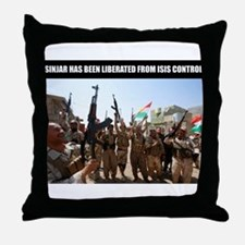 Mount Sinjar has been liberated by th Throw Pillow