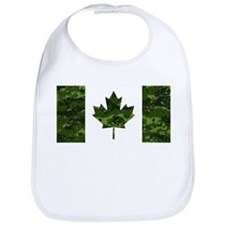 Canadian Flag with Green Camo Background Bib