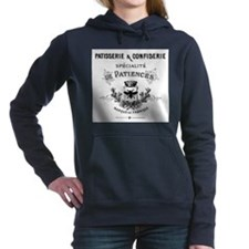 Unique Vintage france Women's Hooded Sweatshirt