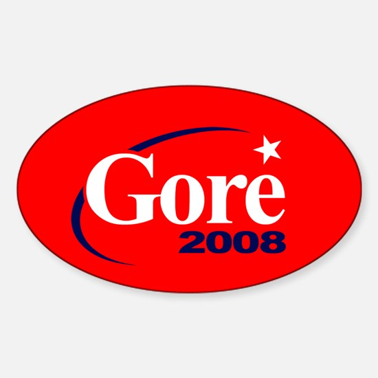 AL GORE PRESIDENT 2008 Oval Decal
