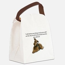 Airedale Pledging to Destroy all Canvas Lunch Bag