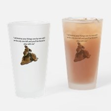 Airedale Pledging to Destroy all of Drinking Glass