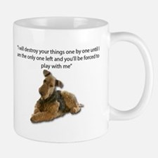 Airedale Pledging to Destroy all of their own Mugs