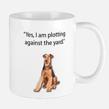 Airedale Admitting to Be Plotting Terror agai Mugs
