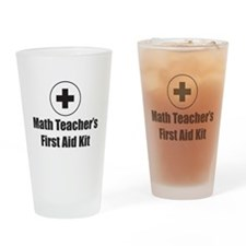 Math Teacher Drinking Glass