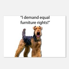 Stubborn Airedale Terrier Postcards (Package of 8)