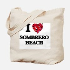 I love Sombrero Beach Florida Tote Bag