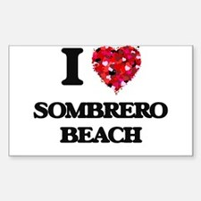 I love Sombrero Beach Florida Decal