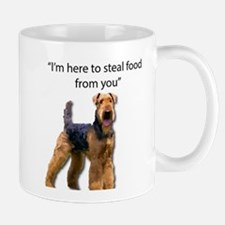 Airedale Admits That He is here to Steal Food Mugs