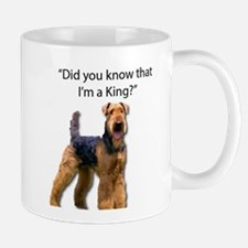 Airedale inquiring whether or not you know hi Mugs