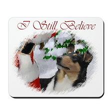 Smooth Collie Christmas Mousepad