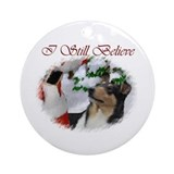 Tri colored smooth collie christmas Ornaments