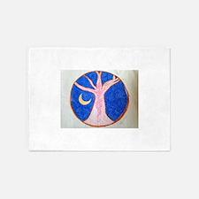 Pink Tree Mandala 5'x7'Area Rug