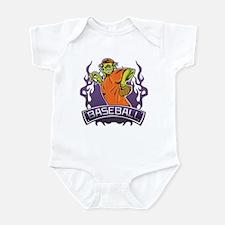 Fantasy Monster Baseball Pitcher Infant Bodysuit