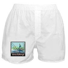 Gone Fishing Design Boxer Shorts