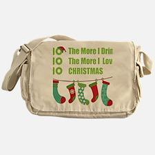 Funny Christmas yard Messenger Bag