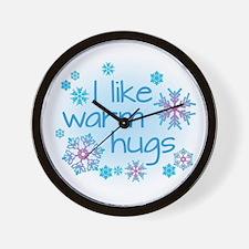 I like warm hugs Wall Clock