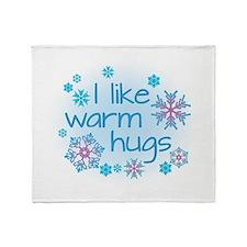 I like warm hugs Throw Blanket