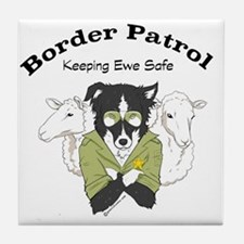 Unique Border patrol Tile Coaster