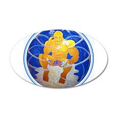 Buddha Bubble (No Graphics) 20x12 Oval Wall Decal