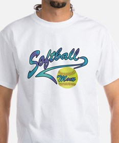 Fastpitch Softball Mom Athletic Tail T-Shirt