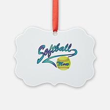 Fastpitch Softball Mom Athletic Ornament