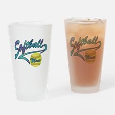 Fastpitch Softball Mom Athletic Tail Drinking Glas