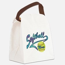 Fastpitch Softball Mom Athletic Tail Canvas Lunch