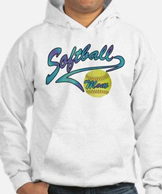 Fastpitch Softball Mom Athletic Tail Hoodie