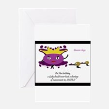 Cute Dominant women art Greeting Card