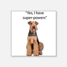 Airedale that believes they have super pow Sticker