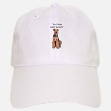 Airedale that believes they have super powers; Baseball Baseball Cap