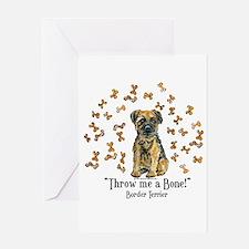 Border Terrier Bone! Greeting Card