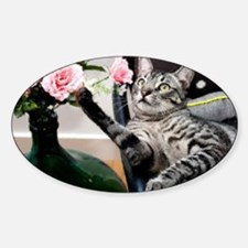 Cat Oil Painting Decal