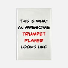 awesome trumpet player Rectangle Magnet