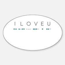 I Love You in Morse code alphabet Decal