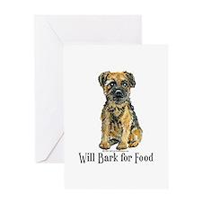 Border Terrier Bark! Greeting Card