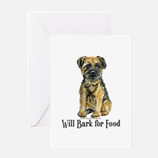 Border Terrier Bark! Greeting Card