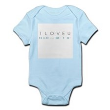 I Love You in Morse Code Alphabet Body Suit