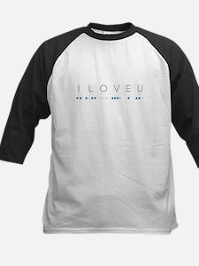 I Love You in Morse Code Alphabet Baseball Jersey