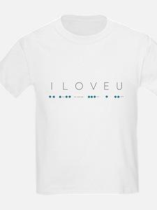 I Love You in Morse Code Alphabet T-Shirt