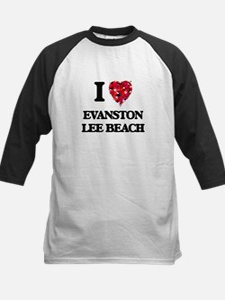 I love Evanston Lee Beach Illinois Baseball Jersey