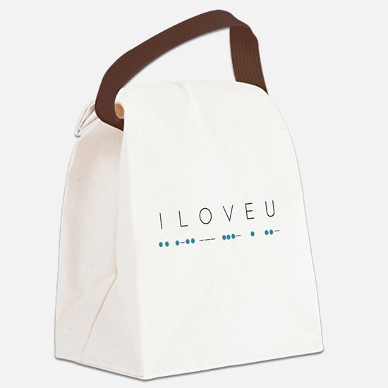 I Love You in Morse Code Alphabet Canvas Lunch Bag