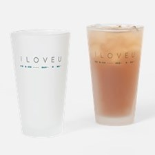 I Love You in Morse Code Alphabet Drinking Glass